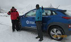 Hyundai Kona Electric sets Guinness World Record with high altitude climb