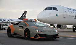 Italy's Bologna Airport gets a new Lamborghini Huracán Evo follow-me car