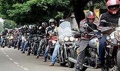 More than 500 Triumph riders ride to support girl child education
