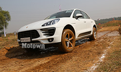 Off Road action in a Porsche Cayenne
