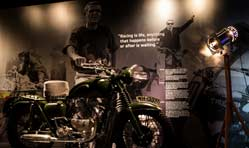 Steve McQueen, Tom Cruise bikes at Triumph Motorcycles Visitor Centre