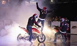 TVS Apache enters Asia Book of Records with 6 hour non-stop stunt