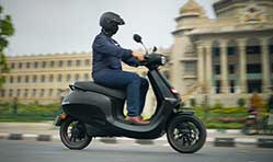The new Ola scooter and boss' day out!