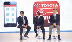 'Toyota Connect' smartphone app based connected services
