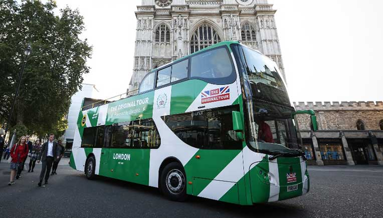 The first electric, open-top double-decker sightseeing bus in London built at Unvi in Spain has an electric motor that comes from Ziehl-Abegg in Kupferzell (Germany).