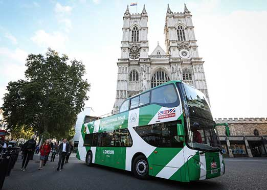 London electric double-decker buses using e- motors from Ziehl-Abegg