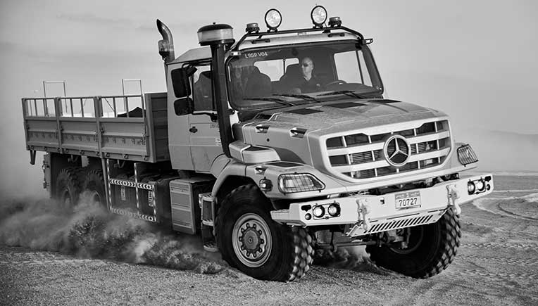World premiere of new Mercedes-Benz Zetros truck