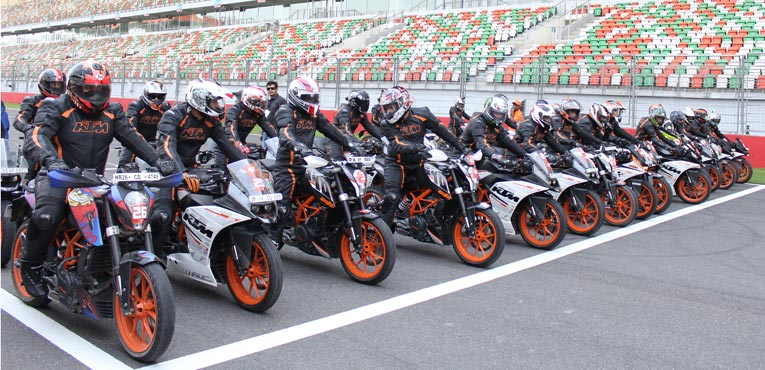 KTM organises Track Day at BIC, yet again