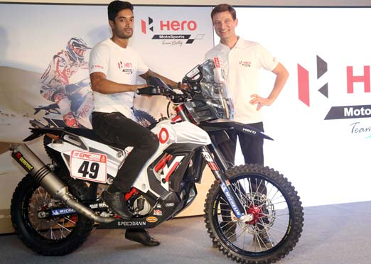 Hero MotoSports showcases new RR 450 Rally bike