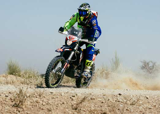 Lorenzo Santolino of Sherco TVS continues his strong performance