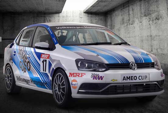 New Ameo Cup race car from Volkswagen Motorsport