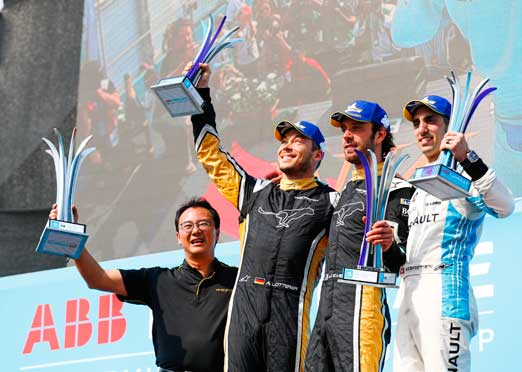 One two for Techeetah drivers Vergne, Lotterer in Santiago Formula E race