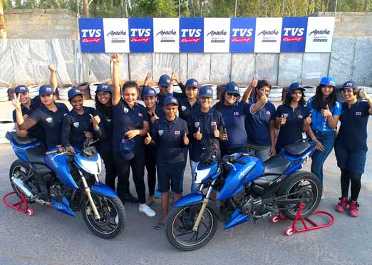 TVS selects 15 women racers for Racing Academy
