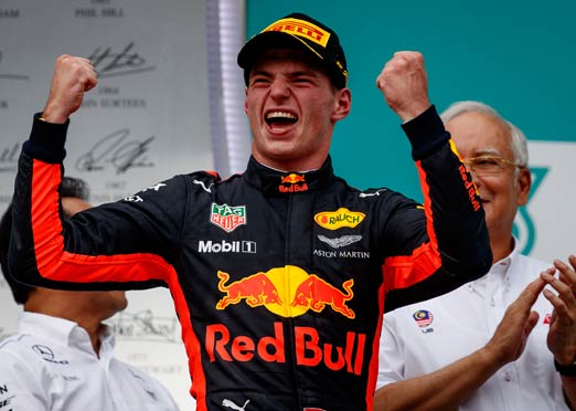 Verstappen of Red Bull victorious in Malaysian F1 race