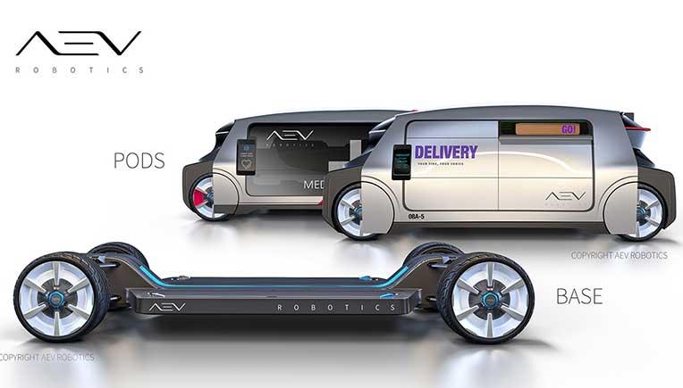 AEV Robotics announces the modular vehicle system at CES 2019