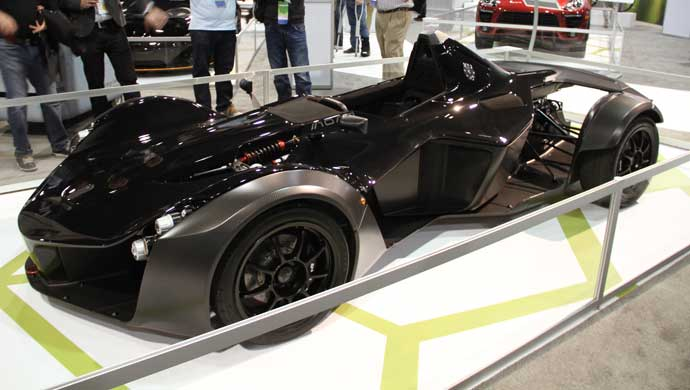 BAC Mono single seater sports car showcased at the event