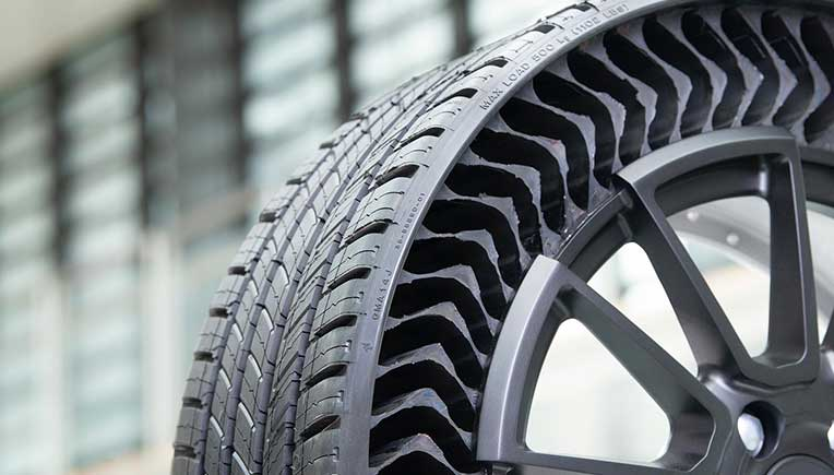 Airless wheel technology from Michelin, General Motors