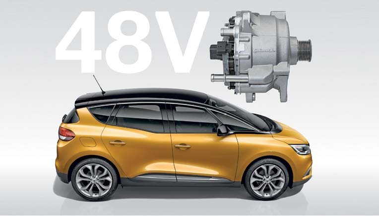 Continental is electrifying one diesel variant of both the new Renault Scénic and Grand Scénic models.