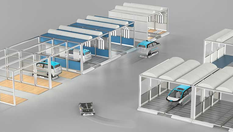 Dürr presents first automatic guided vehicles for paint shop of future