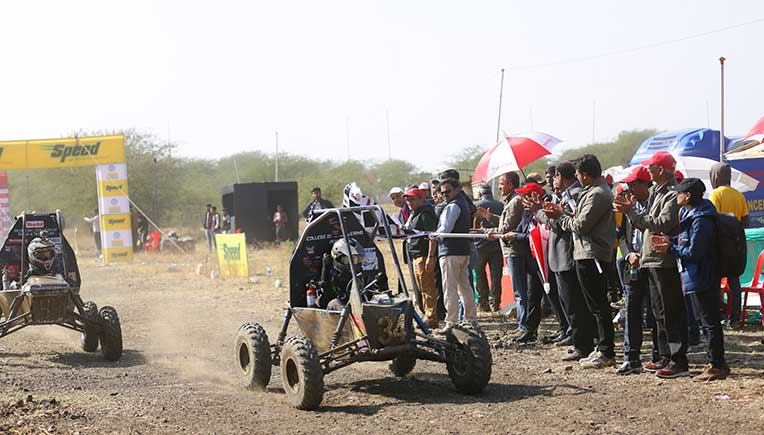 12th edition of the Mahindra BAJA SAEINDIA 2019 in progress