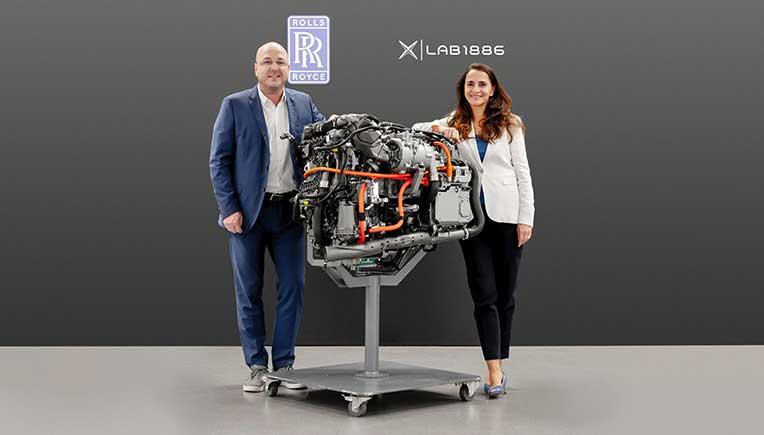 Susanne Hahn, Head of Lab1886 Global; Dr Martin Teigeler, Executive Vice President R & D Rolls-Royce Power Systems