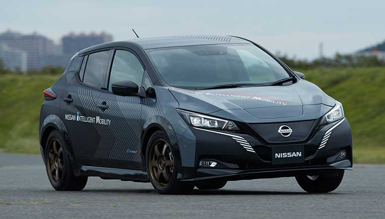 Nissan EV test car comes with twin-motor all-wheel control technology