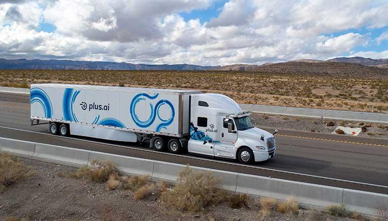 PlusAI demos Level 4 Autonomous Driving Truck Technology