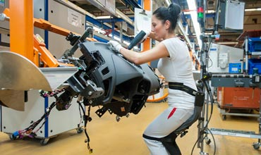 Audi experimenting with chairless chairs in production plant
