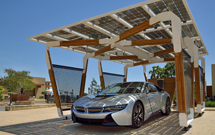 BMW carport concept generates power from the sun