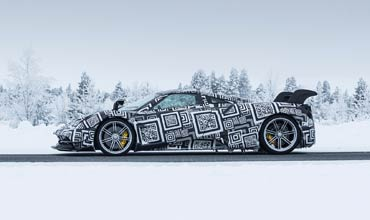 Bosch and Pagani test driving safety systems of Huayra BC in Arctic Circle