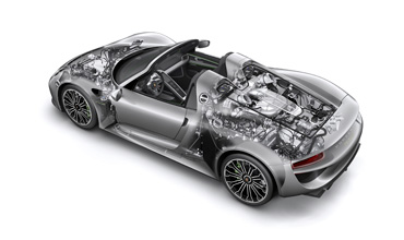 Bosch drive systems for Porsche hybrid models