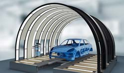 Durr's EcoReflect, an innovative light tunnel to check paint finish
