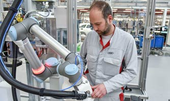 Human robot cooperation heralds new kind of manufacturing at Audi