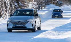 Hyundai Motor winter test proves electrified vehicles in Swedish Lapland