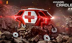 Hyundai walking car concept is the future of  first responder industry
