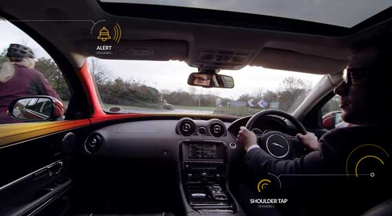 Jaguar Land Rover develops Bike Sense