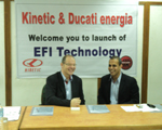 Kinetic & Ducati Energia introduce EFI tech