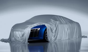 Laser headlights for the new Audi R8