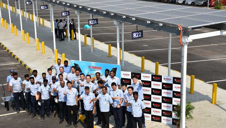 Yamaha commissions 1100 KW solar power plant at Chennai facility