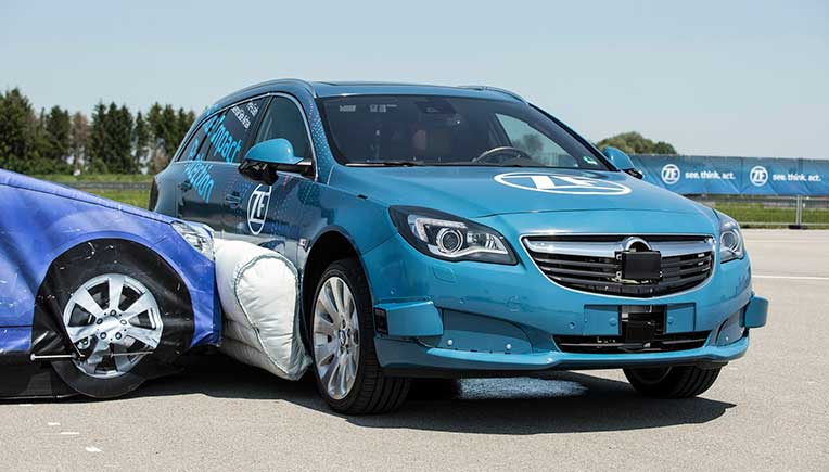 ZF presents world's first pre-crash external side airbag system